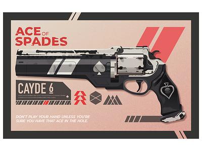 Ace Of Spades typogaphy weapon destiny design poster texture vector illustration