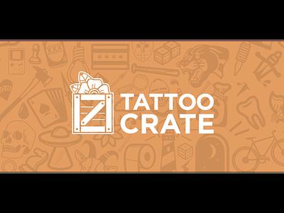 Tattoo Crate Logo and Branding branding logo typogaphy design vector illustration tattoo