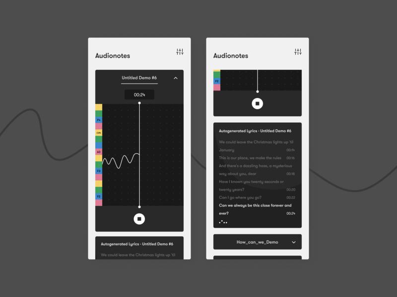 Audionotes - Song demo recorder concept