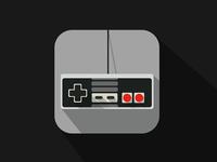 Nintendo controler, flat icon (ios7)