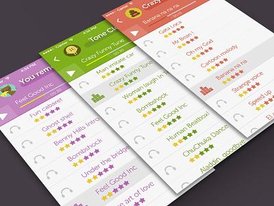 """Funny Tones"" Final design tones app iphone 5 flat ios7 fun layer green purple kids music ringtones"