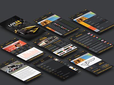 Live 24 Racing 2014. Complete App racing formula 1 f1 iphone results race car new pilots team