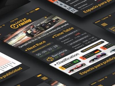 Live 24 Racing 2014. Complete App