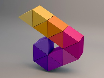 A logo proposal for a indie video game company colors videogames 3d logo