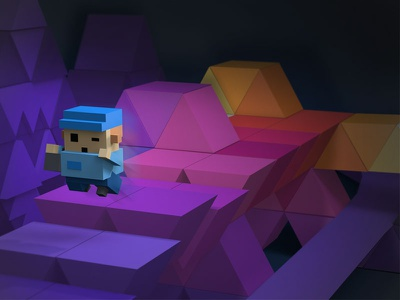 Fleeing from darkness. Game concept darkness colors kids platform game