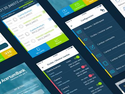 """Acertum-Bank"" app blue banking app bank"