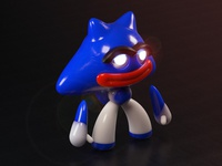 Character render test for new 3D toy