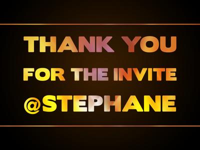 Thank You Stephane !