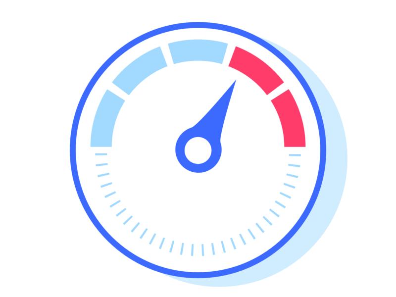 Speedometer / Gauge icon gauge speedometer