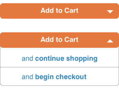Add To Cart Drop Down ux ui dropdown ecommerce add to cart
