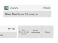 iOS Notification for Medium