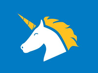 Dribbble iconography icon unicorn
