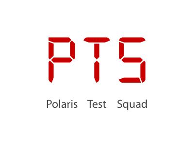 Polaris Test Squad (PTS) Logo logo iconography icons