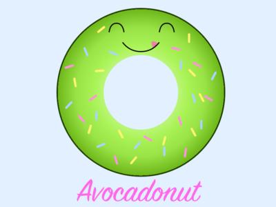 Avocadonut t-shirt design tshirt design donut avocado