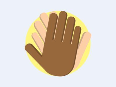 High Five! high five design logo hands