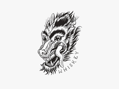 Whiskey Wolves · Noble Woodsman Tee wolf tshirt shirt design whiskey merch design merch illustration design clothing band tee apparel design apparel