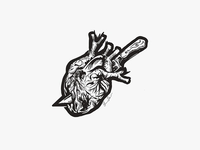 Heart Attack · Tattoo Design