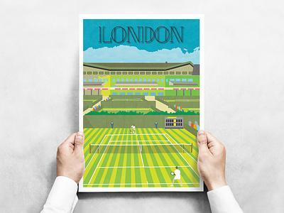 Travel Posters - London print travel illustration