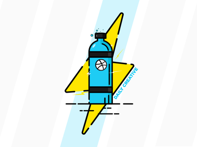 Dribbble, The Boost to my Creativity nitrous logo lightning logo sticker mule contest sticker mule