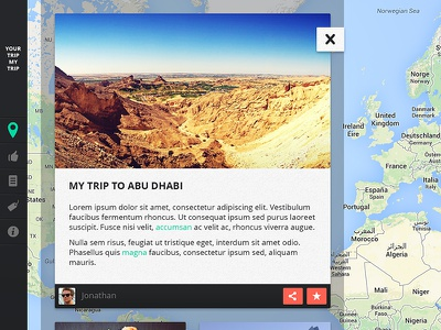 Your Trip My Trip ui design web