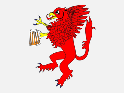 Griffin emblem for 2019 Alloa Beer Festival