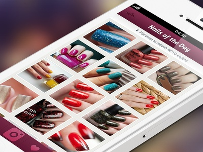 Nails of the Day app concept ios iphone ui mobile