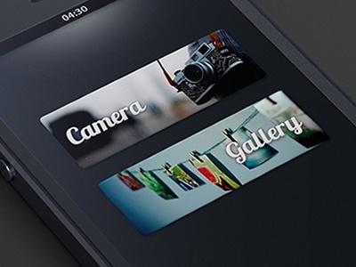 Simple Photo Editor ui iphone ios interface application dark black app mobile photos pics buttons camera gallery