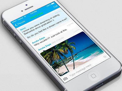 Skype iOs7 iphone ios ios 7 ui app skype white light 7 flat