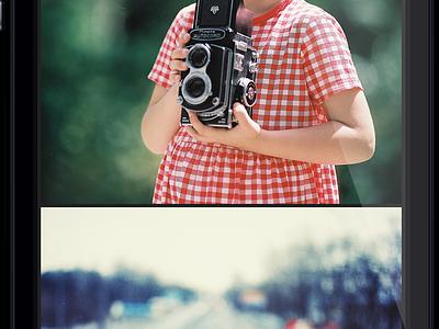 Photographer's profile flat ios7 ios 7 app iphone mobile photo profile pics transparent