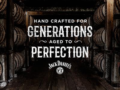 Jack Daniel's Ad Campaign  whiskey ad design western typography jack daniels