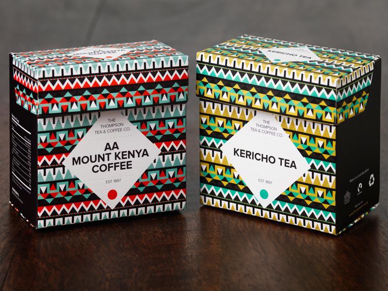 Thompson Tea & Coffee packaging tea coffee pattern