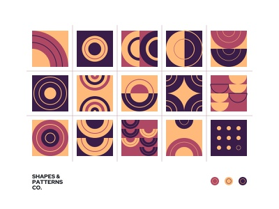 Geometric Pattern No.1 - Shapes & Pattern Co. web design best design clean design pattern design minimal clean trend 2020 abstract design icon illustration vector abstract logo logo texture shapes geometic patterns pattern branding abstract