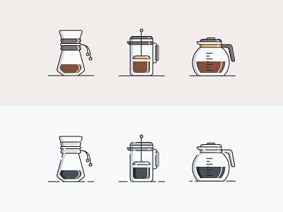 Coffee Culture Icons - 1 of 3 icon pack illustration ui  ux design ux ui minimalist trend 2020 minimal new colors coffeeshop coffee icon artwork icon set icon design iconography icons icon