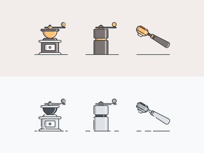 Coffee Culture Icons  - 3 of 3 minimal icons icon designs icon design icon icon set icons coffee bean coffee shop coffee cup coffee
