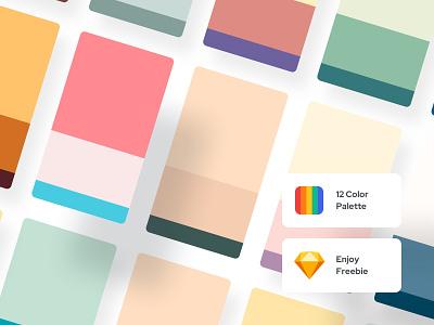 Freebie | 12 Color Palette - Color Exploration 01 web ui design web ui mobile ui trendy design ui ux web ui designer ui designs ui ux ui design minimal palette minimal ui minimal color palettes color palette color