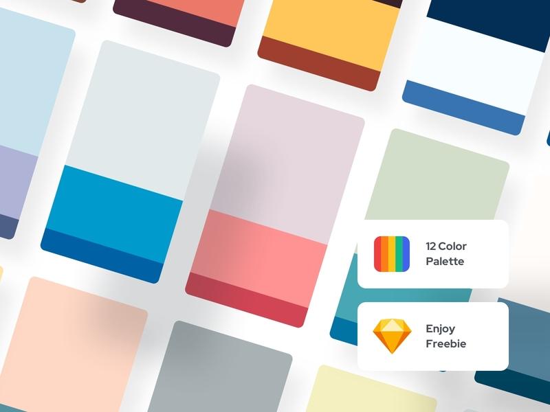 Freebie   12 Color Palette - Color Exploration 03 brand identity brand graphic design logo illustraion freebie mobile ui kit web ui uiux ui palettes ui color palettes mobile ui minimal ui minimal palettes components component color palette