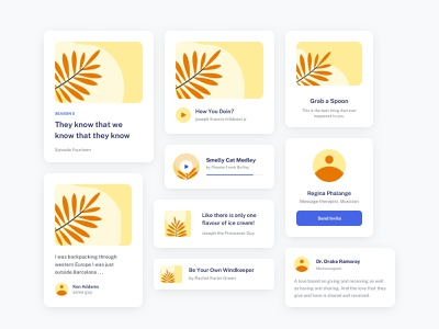UI Element Explorations cards ui product design web ui minimal ui mobile ui ui kit ui component ui element ui