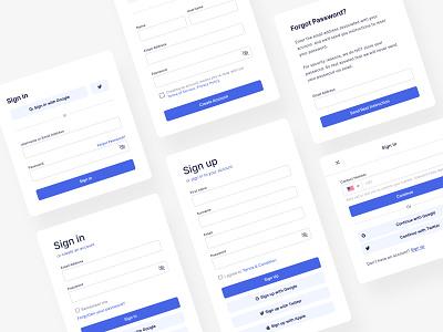 The Blue Thursday - Form Blocks form elements design system sign up ui sign up screen sign up form sign up page sign up sign in ui components ui component form design