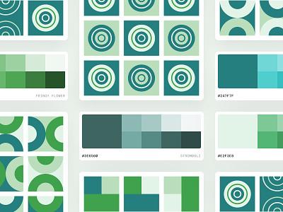Palette Exploration 01 identity design branding geometric color design system palette color palette