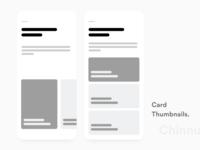 Card Thumbnails block Frames