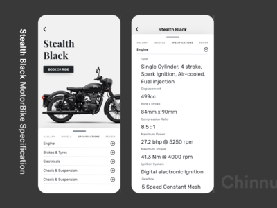 Stealth Black MotorBike Specifications