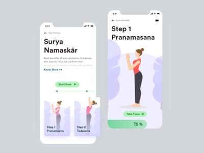 Yoga Fitness Plan App Ui