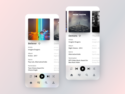 Music App UI - UI Design Challenge One