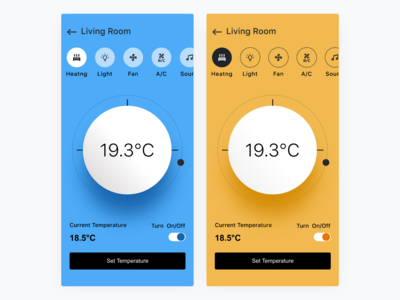 Smart Homes  Thermostat Theme Explorations