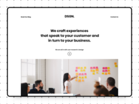 Design Agency - Landing Page
