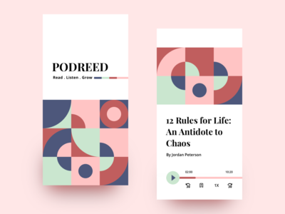 Podreed - An Audiobook Experience - A Design Concept