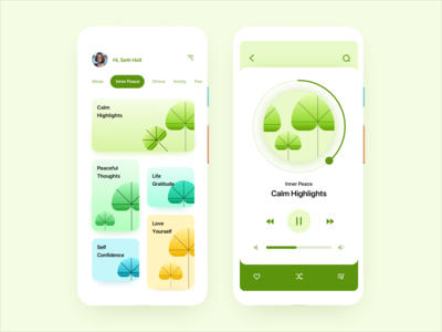 Leafy Mindfulness - A Mobile App Concept
