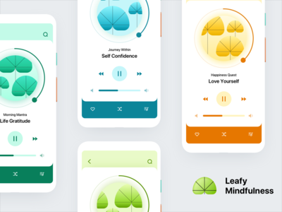 Leafy Mindfulness Mobile UI Exploration