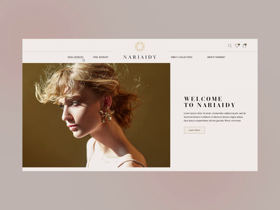 Website design for luxurious crafted jewelry brand webdesign design website luxurious luxury brand jewelry