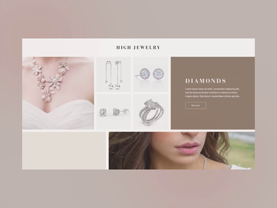 Website design for luxurious crafted jewelry brand animation design web design ux  ui art-direction uxui webdesign